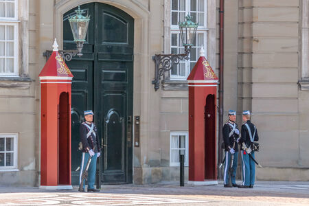 Changing of the guard in front of Amalienborg Palace in Copenhagen, Denmark Stock Photo - 25941008