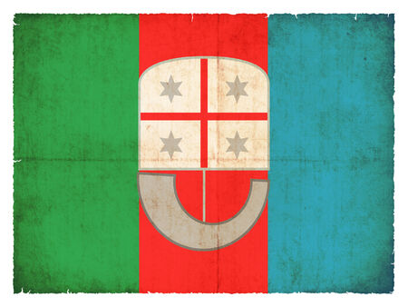 Flag of the italien region Liguria created in grunge style photo