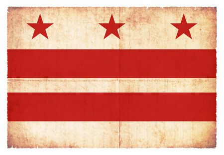 district of columbia: Flag of Washington D C   District of Columbia  created in grunge style
