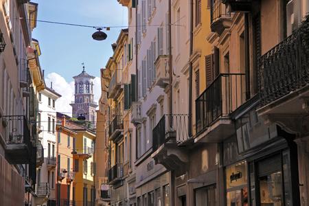 Lane in the old town of Verona, Veneto, Italy