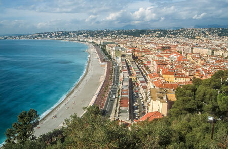 alpes maritimes: Overlooking the bay of Nice, Cote Azur, France