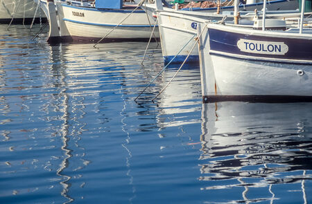 Small Boats in the harbor of Saint Tropez, Cote Azur, France