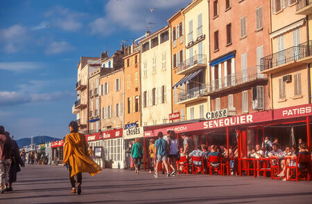 tropez: Waterfront of Saint Tropez Editorial