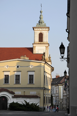 castle district: Piarista Church in the Castle District in Veszprem, Hungary