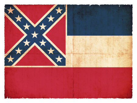 u s: Flag of the US state Mississippi created in grunge style Stock Photo