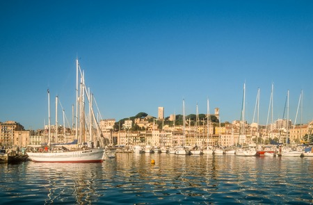 swanky: Harbor and old town of Cannes, Cote Azur, France