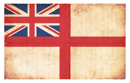 chorąży: White Ensign of Great Britain (naval flag) created in grunge style