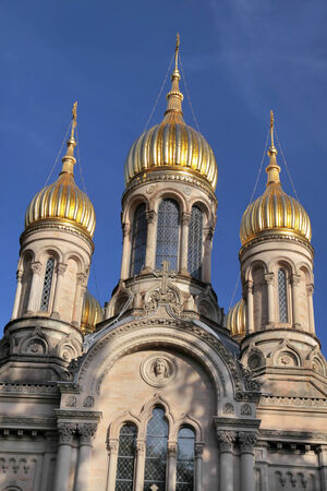 russian orthodox: Russian Orthodox Church on the Neroberg hill in Wiesbaden, Hesse, Germany