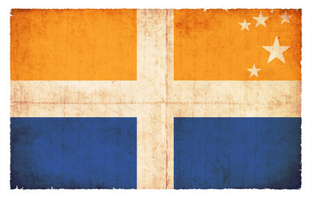scilly: Flag of the British Isles of Scilly created in grunge style