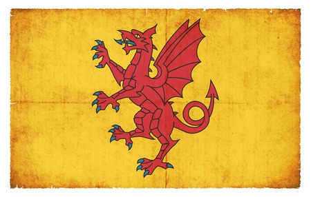 county somerset: Flag of the British county Somerset created in grunge style Stock Photo