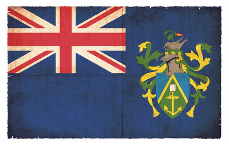pitcairn: Flag of Pitcairn Islands (Great Britain) created in grunge style Stock Photo