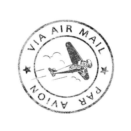 Historic Postmark Air mail  Par Avion, isolated
