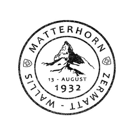 postmark: Old Swiss postmark Matterhorn, Zermatt, Valais