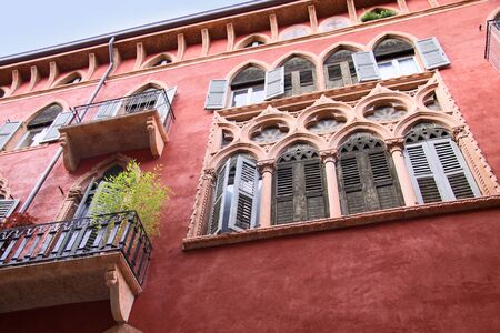 veneto: Historic Palace on the Piazza dei Signori in Verona, Veneto, Italy