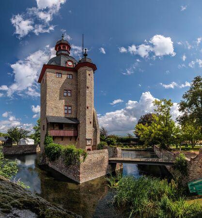 hesse: Residential tower of the Palace of Vollrads in Winkel, Rheingau, Hesse, Germany Editorial