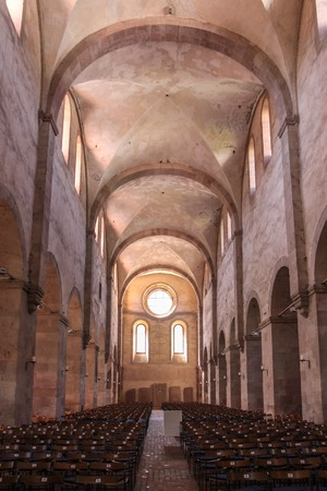 monastery nature: Romanesque nature in the Cistercian monastery Kiedrich Rheingau Hesse Germany Editorial