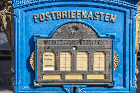 historically: Historical mailbox in the old town of Eltville