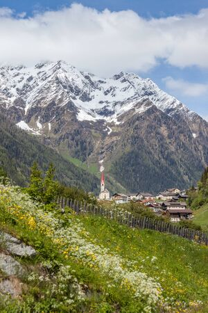 selva: The village of Selva dei Molini Tures Valley South Tyrol Italy Stock Photo