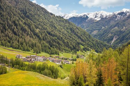 selva: The village of Lappach, Tures valley, South Tyrol, Italy Stock Photo