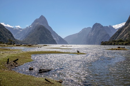 anau: Milford Sound and Mitre Peak, Southland, South island,  New Zealand