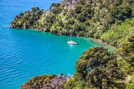 marlborough: Marlborough Sounds near Picton, South Island, New Zealand Stock Photo