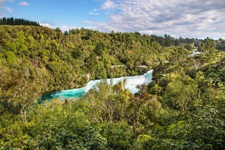 north island: Huka Falls near Taupo, North Island, New Zealand Stock Photo