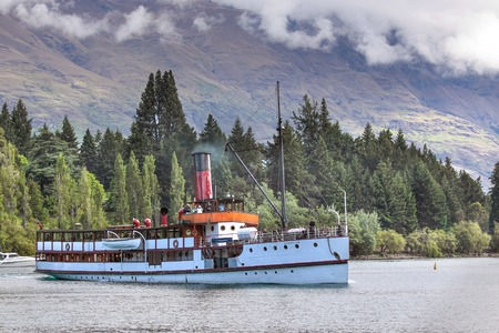 south island new zealand: Steamship TSS Earnslaw on Lake Wakatipu, Otago, South island,  New Zealand Editorial