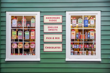 Historical candy shop in Arrowtown, Otago, South Island, New Zealand