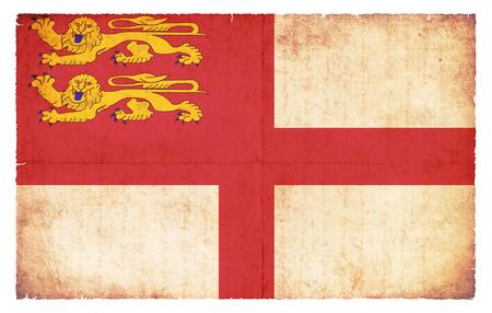 sark: Grunge flag of Sark British Crown Estates created in grunge style