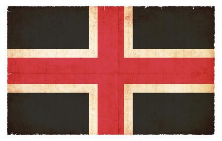 durham: Flag of the British City of Durham created in grunge style