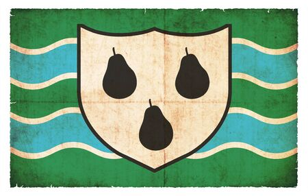 worcestershire: Flag of the British county Worcestershire created in grunge style