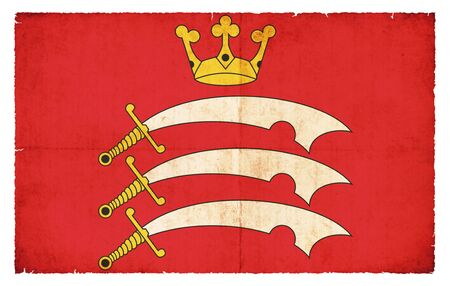 middlesex: Flag of the British county Middlesex created in grunge style Stock Photo