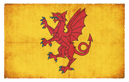 county somerset: Flag of the British Somerset Council created in grunge style