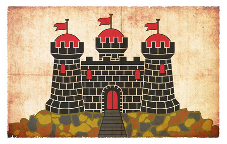 edinburgh: Flag of the Scottish city Edinburgh created in grunge style Stock Photo