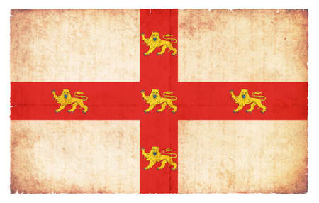 old flag: Flag of the British city York created in grunge style Stock Photo