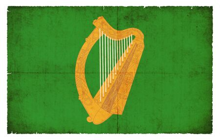 leinster: Flag of the Irish province Leinster created in grunge style Stock Photo