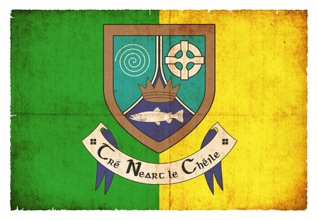 county meath: Flag of the Irish county Meath created in grunge style Stock Photo