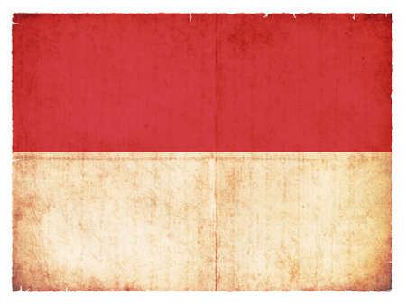 monegasque: National Flag of Monaco created in grunge style