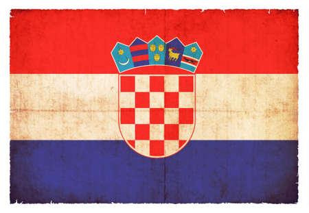 Flag of Croatia created in grunge style