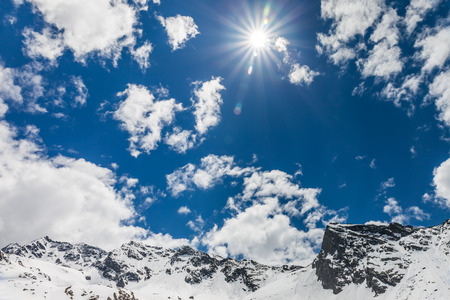 tyrol: Snow, mountains and sun in Campo Tures, South Tyrol, Italy Stock Photo