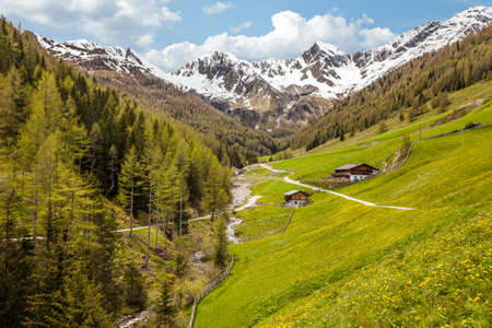 campo: Alp in Campo Tures, South Tyrol, Italy Stock Photo
