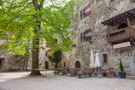 campo: Courtyard of the castle Tures, Campo Tures, South Tyrol, Italy