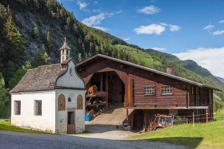 tyrol: Small chapel in Valle Aurina, South Tyrol, Italy