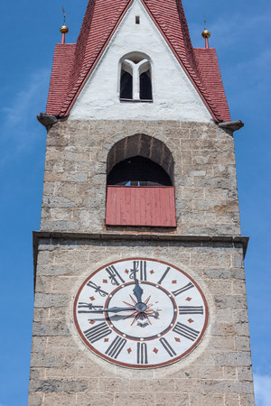 Village church of Lappach, Campo Tures, South Tyrol, Italy Stock Photo