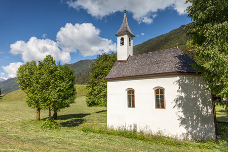 Small chapel at St. Jakob in South Tyrol, Italy