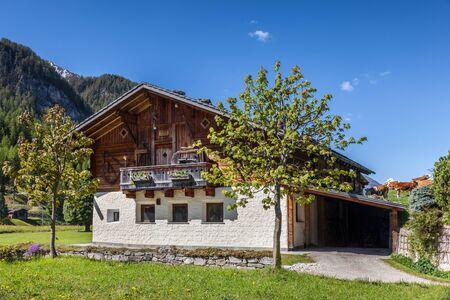 farmhouses: Old farmhouses in Kasern in the rear Ahrntal, South Tyrol, Italy
