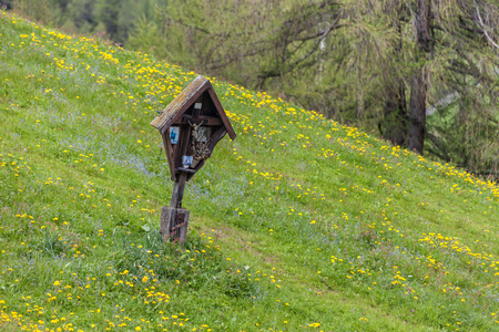 tyrol: Christian wayside shrine in South Tyrol in Muehlwald valley, Campo Tures, South Tyrol, Italy