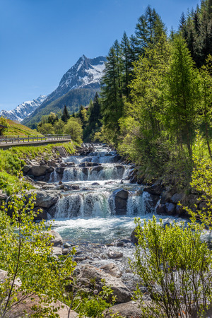 Rapids of the Ahr in Prettau in the rear Ahrntal, South Tyrol, Italy Stock Photo
