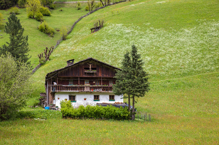 campo: Old mountain farm in Lappach, Campo Tures, South Tyrol, Italy Stock Photo