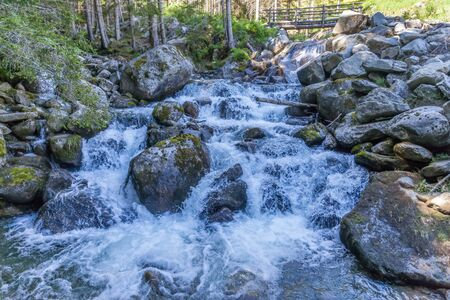 Mounatin stream in Valle Aurina, South Tyrol, Italy Stock Photo